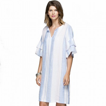 Stripe Linen Tie Dress