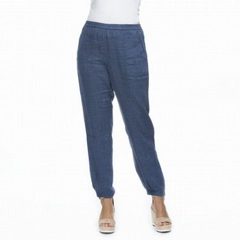 Gathered Hem Linen Pants