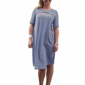 Front Split Stripe Dress