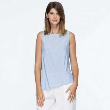 Stripe Cotton Chambray Top