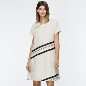 Linen Applique Detailed Dress
