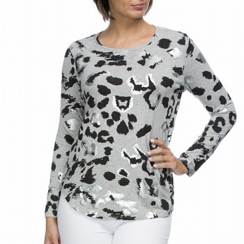 Long Sleeve Animal Print Tee