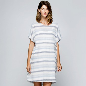 Spliced Linen Tunic Dress