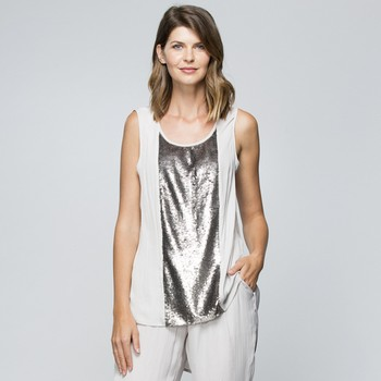 Sequin Panel Inset Top