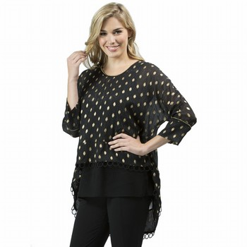 Metallic Spot Tunic