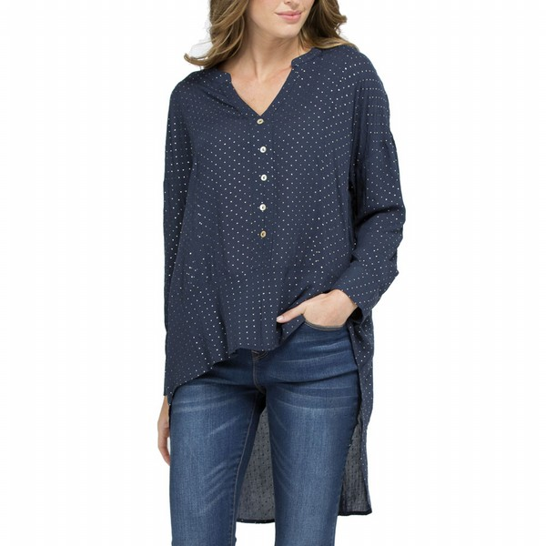 Spot Open Neck Shirt