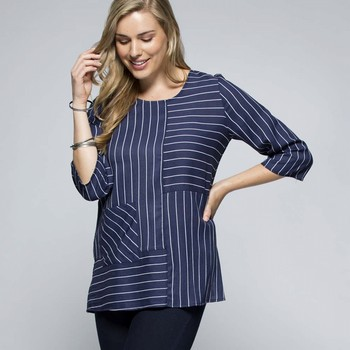 Spliced Navy Top