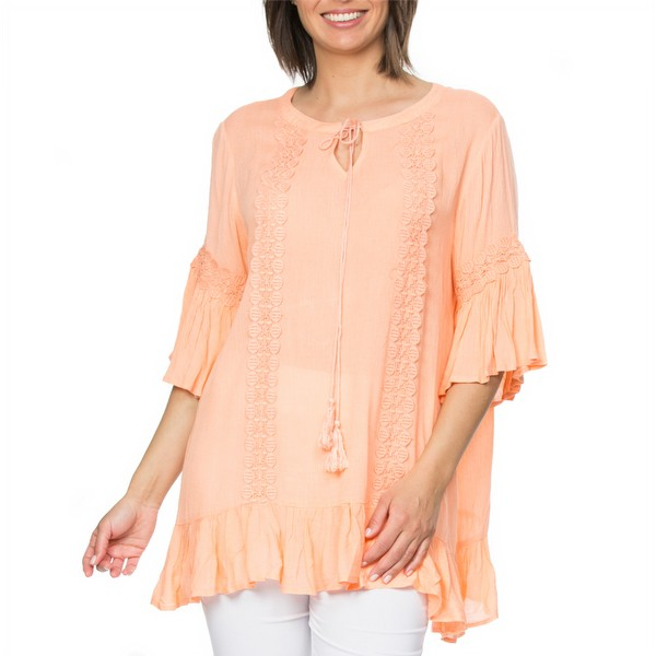 Lace Trim Kaftan