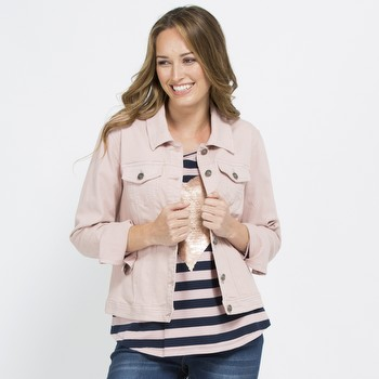Pink Denim Jacket | Tuggl