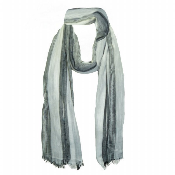 White Stripe Scarf