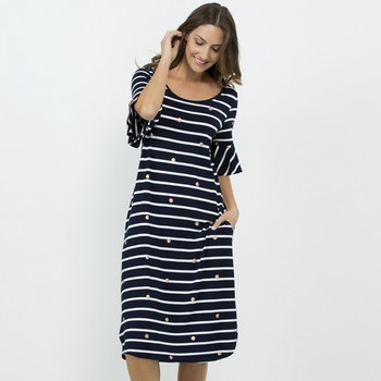 Stripe & Metallic Spot Dress
