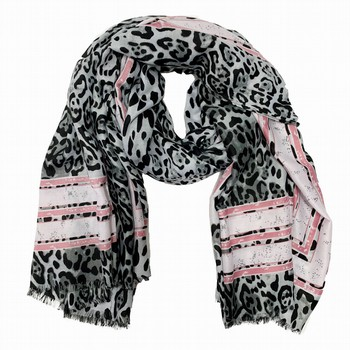 Cashmere & Cotton Animal Print Scarf