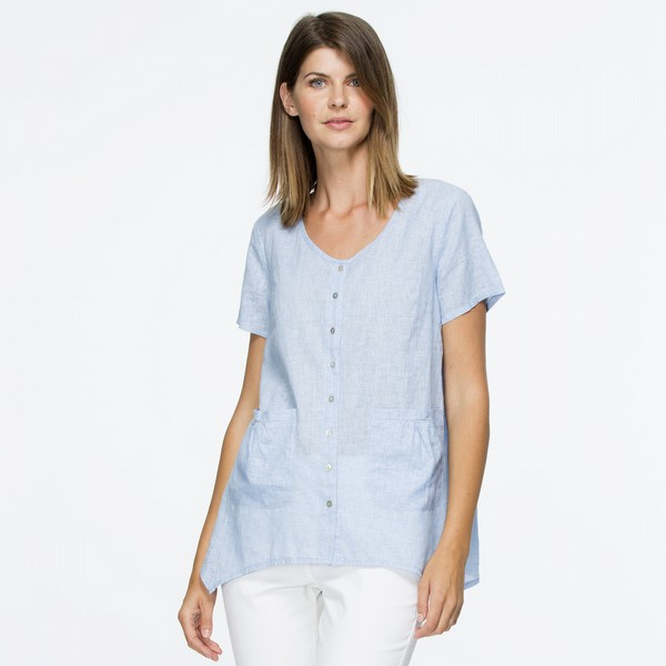 Short Sleeve Linen Shirt