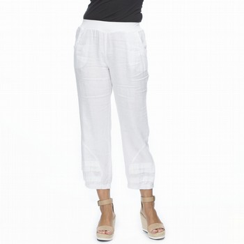Sequin Trim Linen Pant