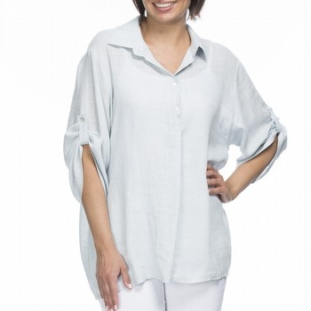 Linen & Cotton Tunic Shirt