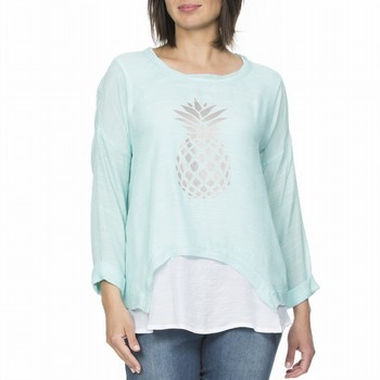Pineapple Print 2 in 1 Top