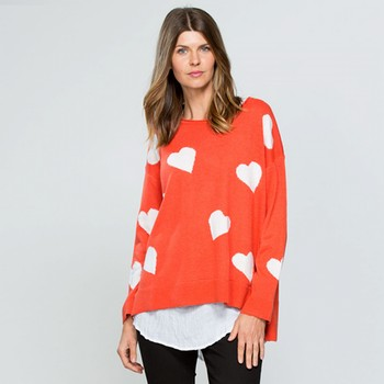 Heart Knit Cashmere Blend Top