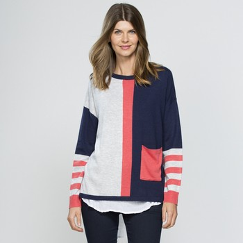 Multi Stripe Cashmere Blend Knit