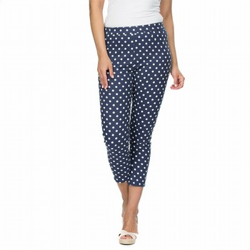 Navy Cotton Spot Pant