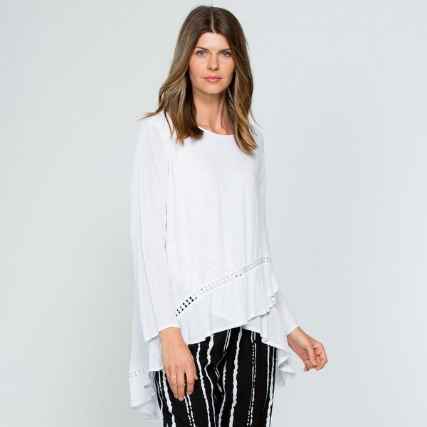 Lace Inset Layer Top