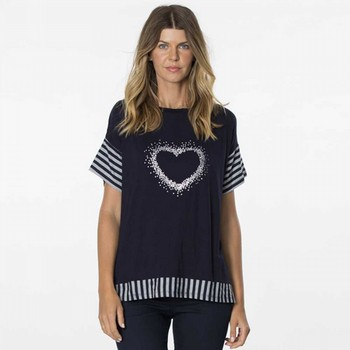 Heart Spliced Top