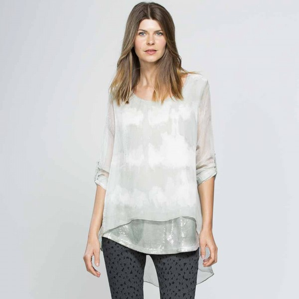 Soft Print Layered Top