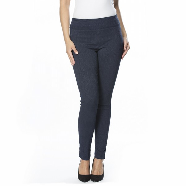 Stretch Jacquard Navy Pant