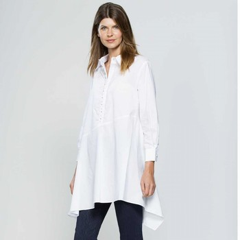 White Pearl Detailed Shirt