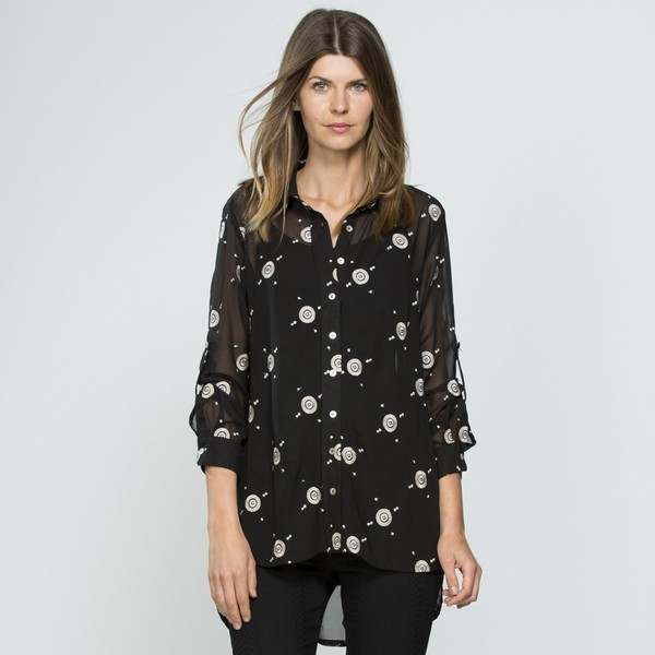 Embroidered Georgette Shirt