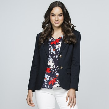 Sateen Single Breasted Jacket