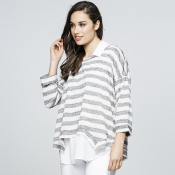Stripe 2 in 1 Knit Top