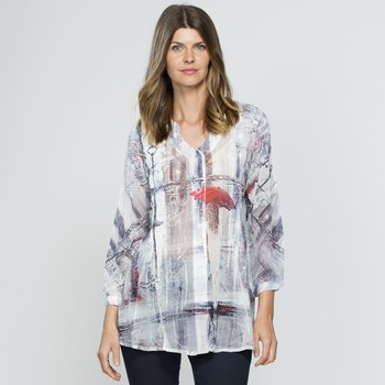 Button Through Printed Overshirt