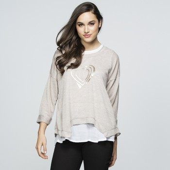 Sequin Heart Layer Top