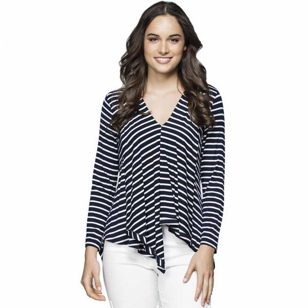 Asymmetric Stripe Top