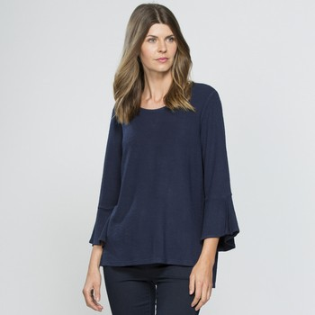 Three Quarter Bell Sleeve Top