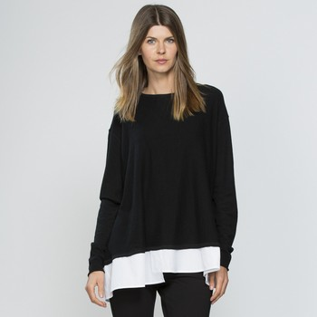 Contrast Hem Layered Knit