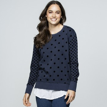 Velvet Spot Cotton Terry Sweatshirt