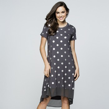 Spliced Hem Spot Dress