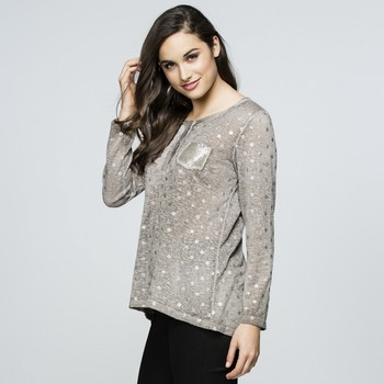 Metallic Spot Knit Top