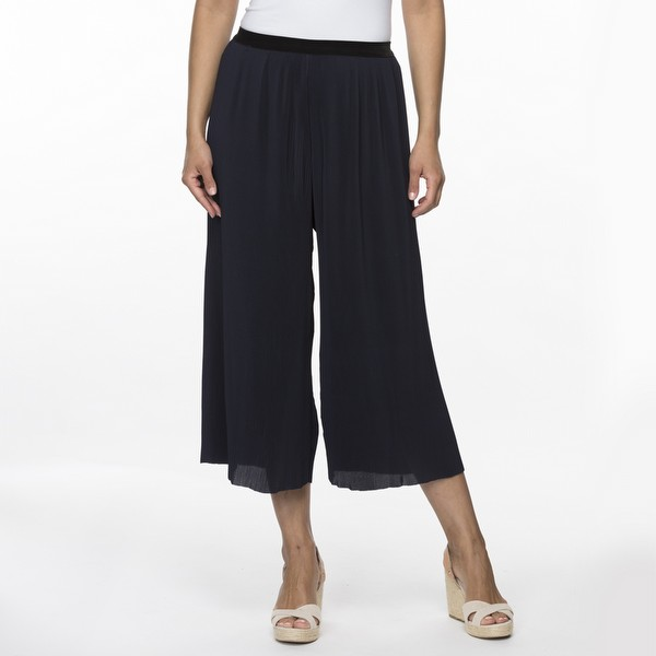 Mini Pleat Wide Leg Pant