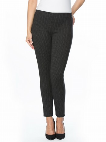 Fine Spot Ponte Pull On Pant