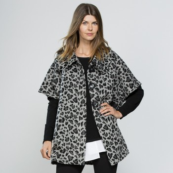 Animal Print Melton Jacket