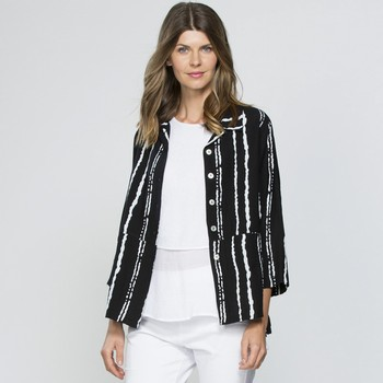 Stripe Shirt Jacket