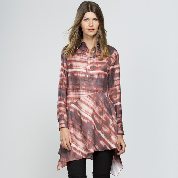 Spice Print Tunic Top