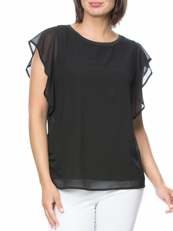 Georgette Ruffle Layer Top
