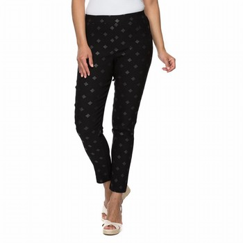 Diamond Print Stretch Pant