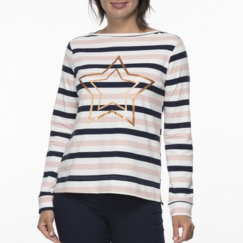 Cotton Stripe Star Tee