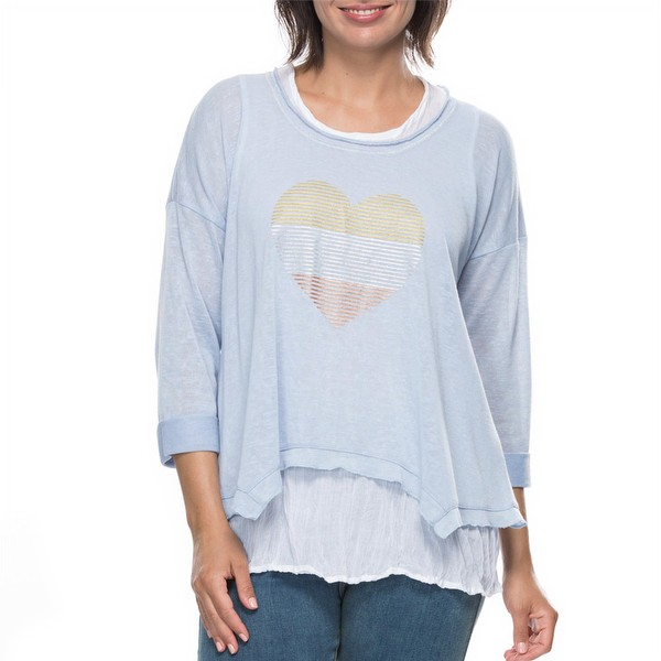 Two in One Striped Heart Top