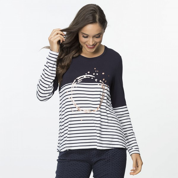 Spliced Stripe Orbital Top