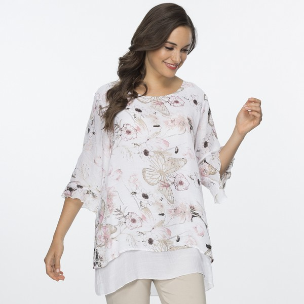 Floral Print Layer Top